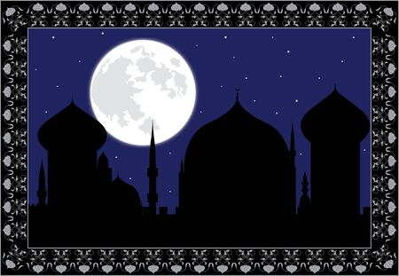 arabic night. verctor illustration for design Vector