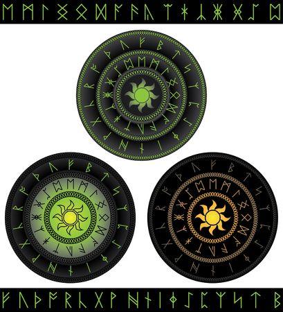 magic runes Vector