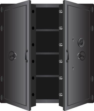 metallic safe. Vetores