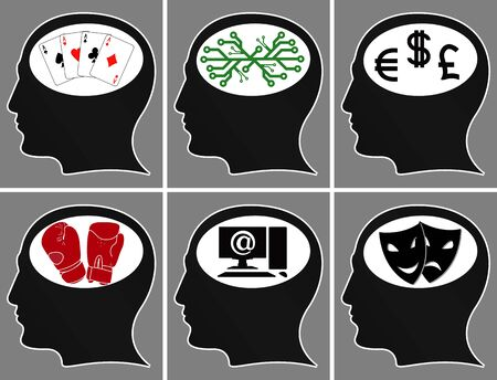 brains of a mans. illustration  Vector