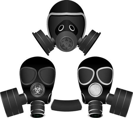 army gas mask: m�scaras de gas. ilustraci�n para el dise�o
