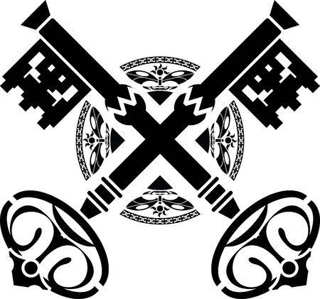 llave de sol: claves de la medievales  Vectores