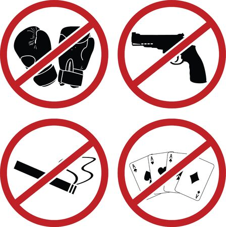 warning signs: warning signs for public places Illustration