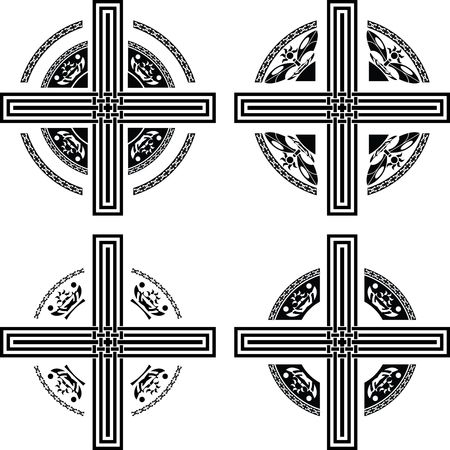 set of fantasy crosses Stock Vector - 7710227