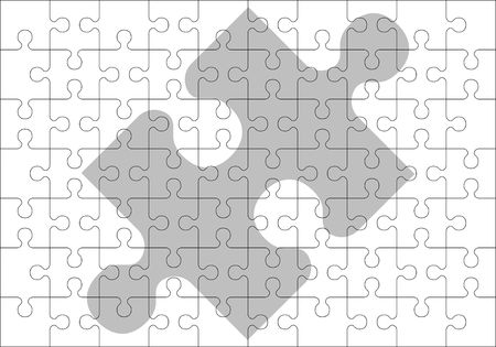 jigsaw pieces: stencil of puzzle pieces.  illustration Illustration