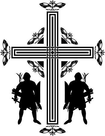 fantasy crusaders cross. second variant.  Stock Vector - 7910393