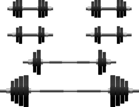 weightlifting: set of weights. second variant. Illustration