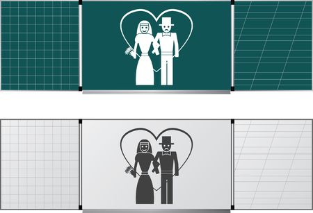 two blackboards Vector