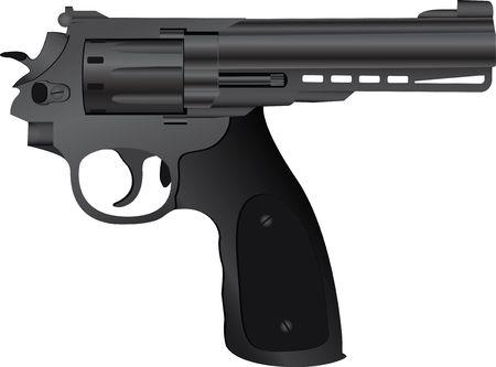 correct pistol. illustration for gangsters