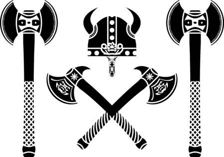 runes: ensemble d'axes de fantaisie. Illustration