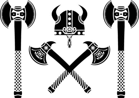set of fantasy axes. illustration Stock Vector - 8084428