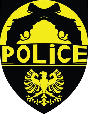 eagle badge: police badge. illustration for design Illustration