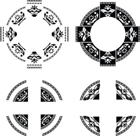 gaelic: set of fantasy rings. vector illustration