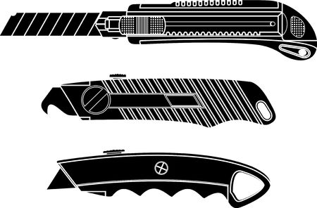 cutter knives. stencil.  Vector