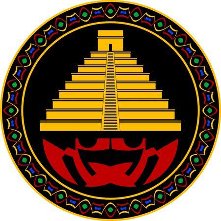 ancient maya pyramid. Stock Vector - 8214082
