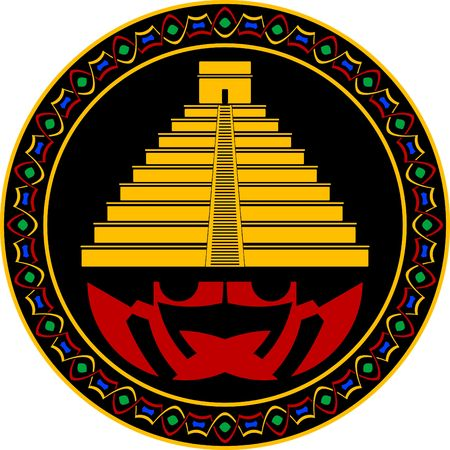 triangle button: maya antigua pir�mide.