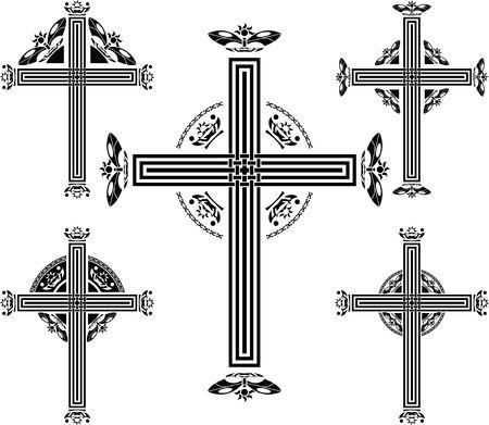 irish culture: set of crosses.