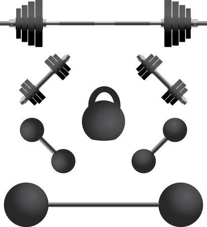 kilograms: set of weights.third variant.  Illustration