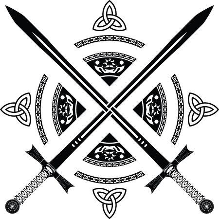 fantasy swords. fourth variant. Stock Vector - 8418047