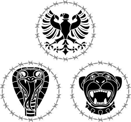 wild animals. stencil. vector illustration Vector