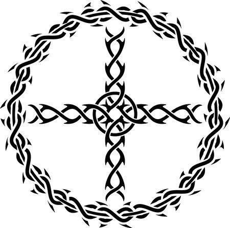 tattoo cross Vector