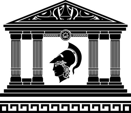 temple of alexander the great Stock Vector - 8468827