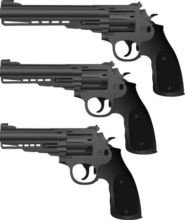 set of pistols Stock Vector - 8498322