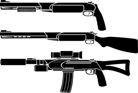 shotgun, gun and rifle Stock Vector - 8531952