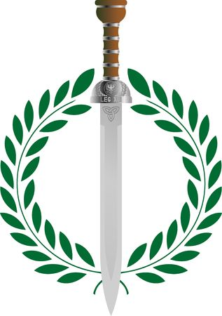laurel leaf: roman glory.  Illustration