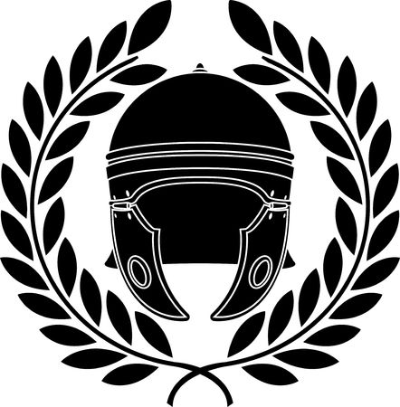 roman helmet. stencil. second variant.