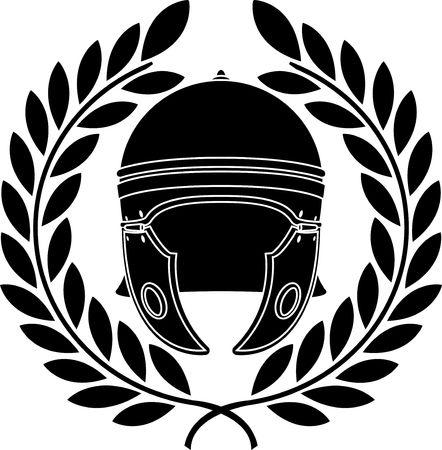 roman helmet. stencil. second variant. Illustration
