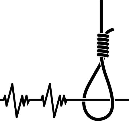 morte: depression. stencil. Vector illustration for design