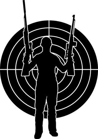man and target. stencil. Vector illustration Stock Vector - 8782208