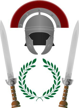 cascos romanos: Gloria romana. tercera variante  Vectores