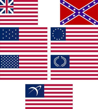 drapeaux am�ricain: ensemble de drapeaux am�ricains  Illustration