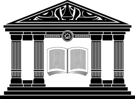greece: ancient hellenic school. stencil.   Illustration