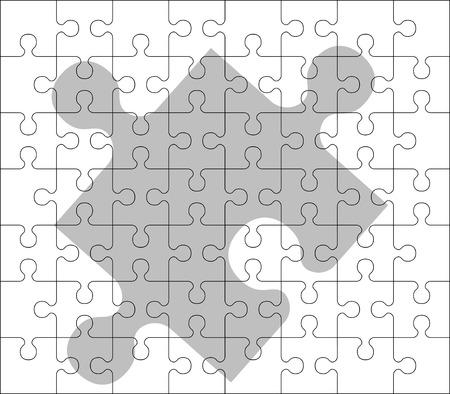 puzzelen: stencil van puzzelstukken van de. tweede variant.