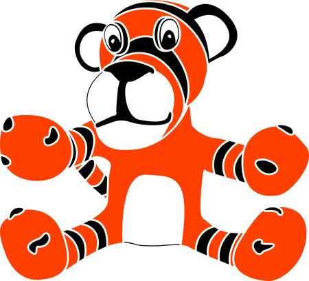 stencil of toy tiger cub. vector illustration Vector