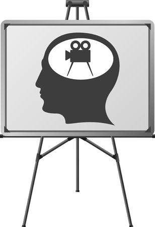 cinema brain of a man. vector illustration Vector