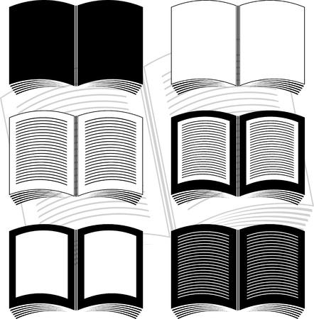 set of books. stencil. vector illustration Stock Vector - 9177575