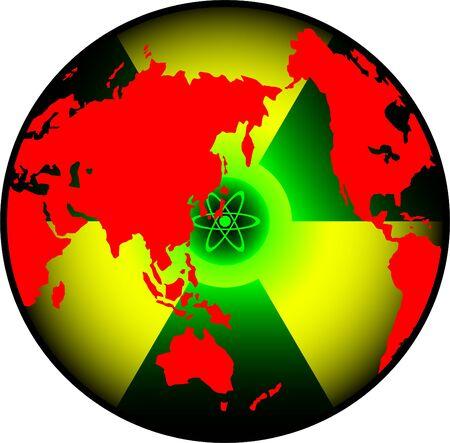 radiation world. vector illustration for design Vector