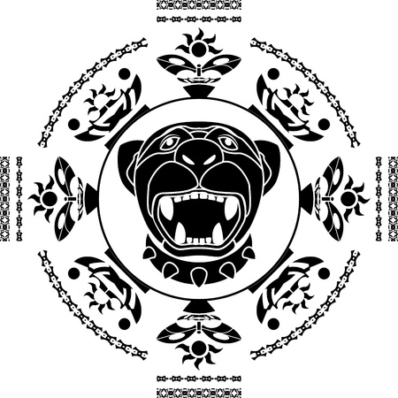 panther. second variant. stencil. vector illustration Vector