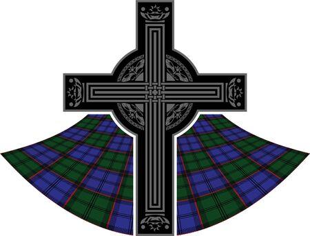 scottish celtic cross. vector illustration Vector