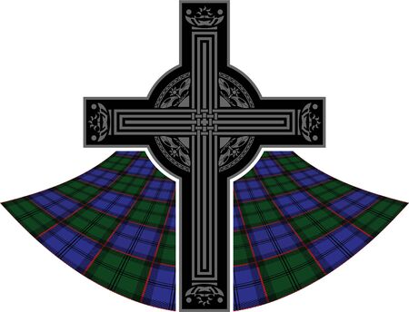 scottish celtic cross. vector illustration Stock Vector - 9453393