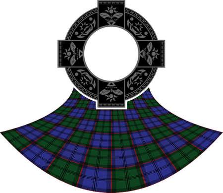 scottish culture: scottish celtic ring. vector illustration