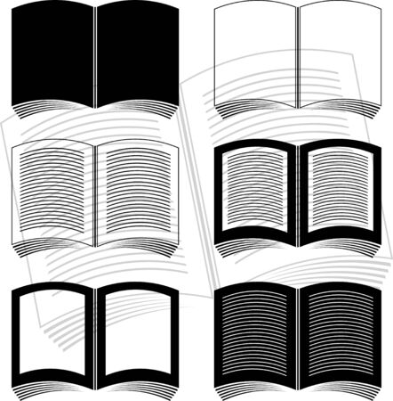 stencils of books. vector illustration Stock Vector - 9453395