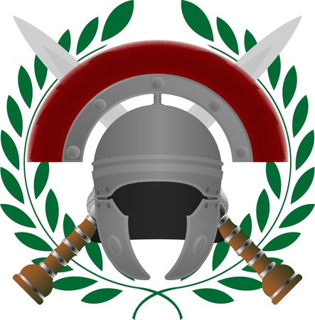 romano: Gloria romana. variante quinto. ilustraci�n vectorial