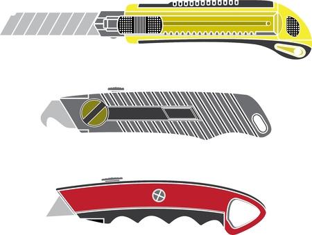 colour cutter knifes. stencil. vector illustration Vector