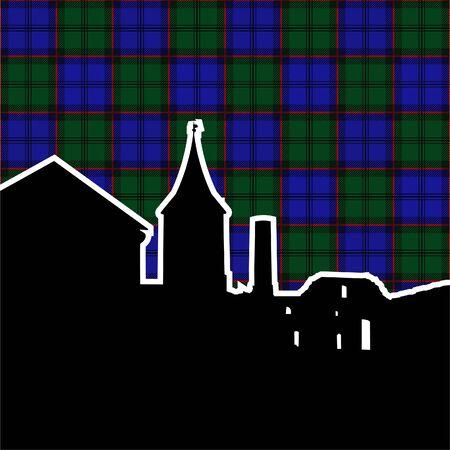 ruins of scottish castle. second variant. vector illustration Stock Vector - 9931258