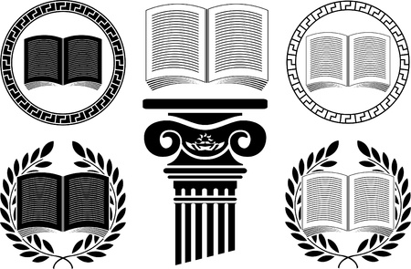 encyclopedias: education. stencil. third variant.